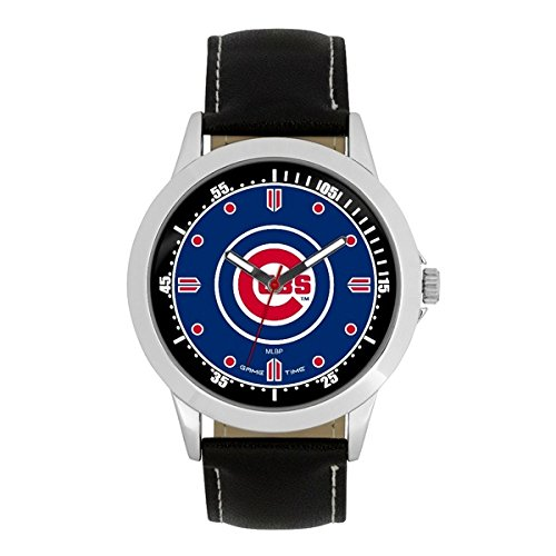 Game Time MLB- Chicago Cubs Player Series Watch, Black, 44.00mm