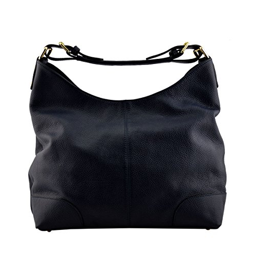Dark Bag Genuine Color Bag Italy Leather In Blue Leather Made Tuscan Shoulder Woman p40XCqnw