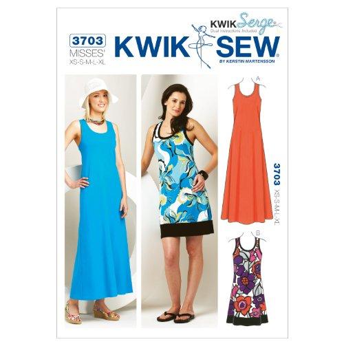 Kwik Sew K3703 Dresses Sewing Pattern, Size XS-S-M-L-XL | dstclub.org