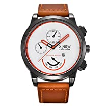 Howstar Mens Watch Casual Mens Watch,Vintage Classic Mens Waterproof Date Leather Strap Sport Quartz Watches