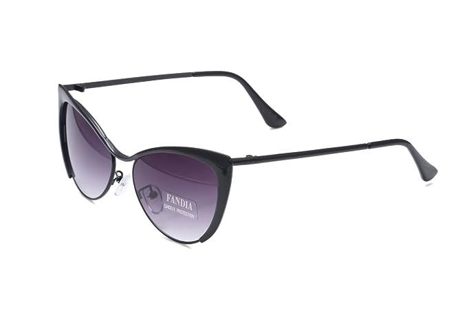 Fandia diseño Vintage de ojo de gato gafas de sol Marco ...