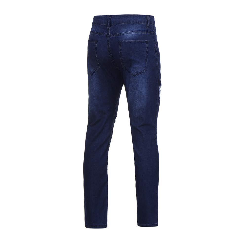 LuckyGirls Vaqueros Tapered para Hombre Pantalones Denim ...