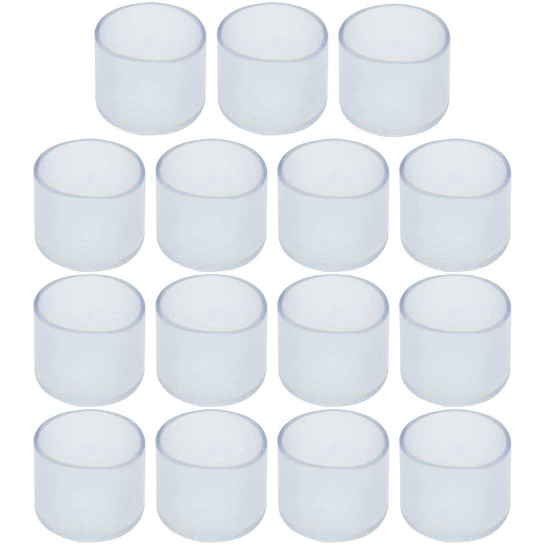 uxcell Clear PVC Chair Leg Caps End Tip Feet Cover Furniture Glide Floor Protector 15pcs 0.79 20mm Inner Diameter Reduce Noise Prevent Scratch
