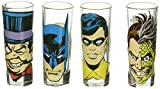 Zak Designs BTMF-S430 Batman Comics Mini Glass 4 Piece Window box, 2 oz, Multicolor