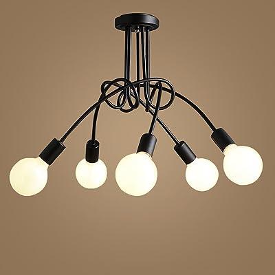 GUOQ Moderne Style Fer Verre plafond lampe Minimaliste ...
