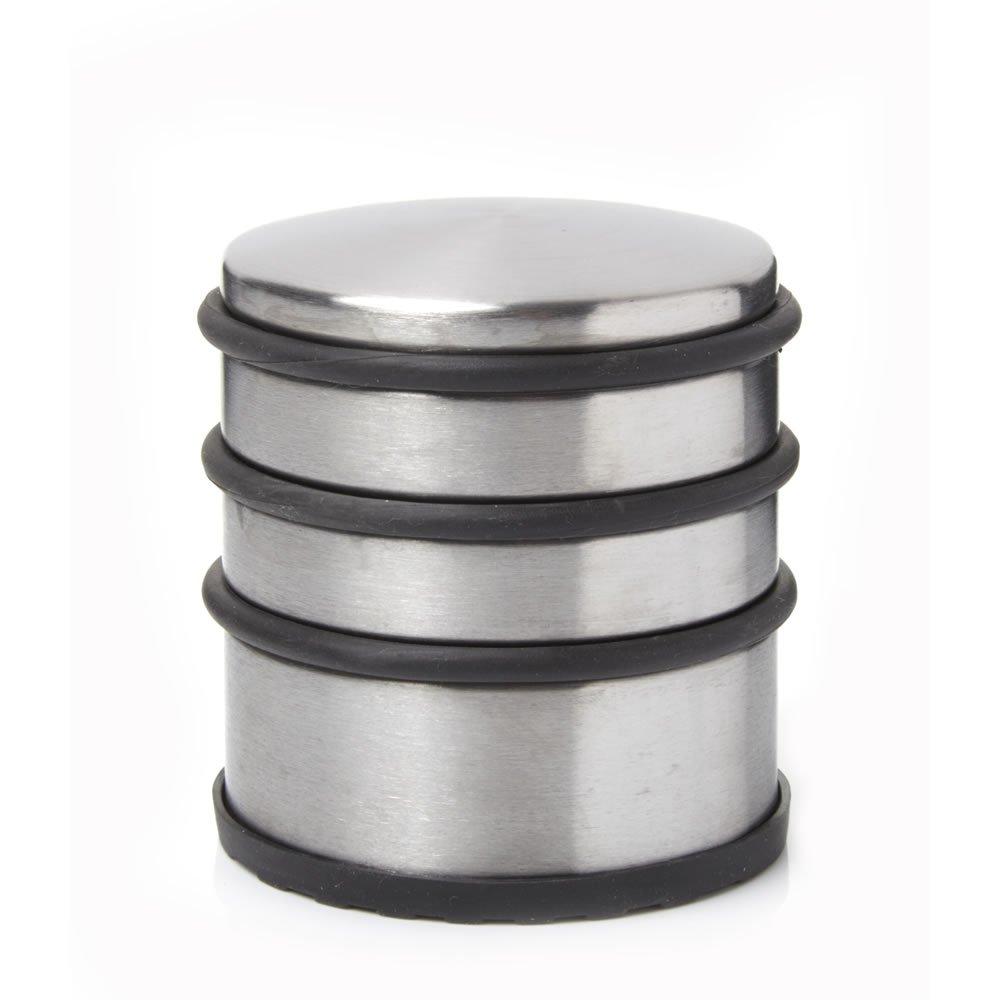 Hyfive Door Stopper Heavy Duty Stainless Steel Round Solid Door Wedge Stop Rubber Base Single Door Stop 10 Pack Not Known