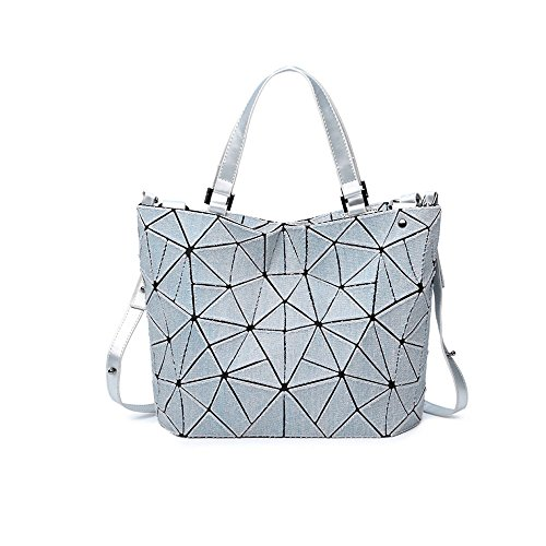 AJLBT Cowboy Triangle Diamond Rubik's Bag Tide Temperament Ladies Bolsa Grande Bolsa De Cubo Gray