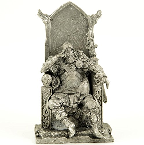 Vikings. King of Northerners. Norse. Metal sculpture. Collection 54mm (scale 1/32) miniature figurine. Tin toy soldiers