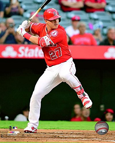 Angeles Photograph Los Angels (Mike Trout Los Angeles Angels Action Photo (Size: 8