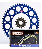 #3: Renthal Grooved Front & Ultralight Rear Sprockets & R3 O-Ring Chain Kit - 14/50 BLUE - Yamaha WR250F, YZ125, YZ250F