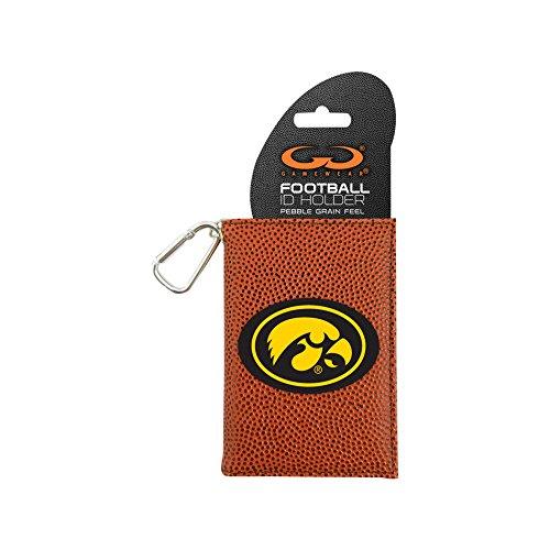 NCAA Iowa Hawkeyes Classic Football ID Holder, One Size, Brown (Iowa Football Hawkeyes Brown)