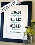 Amazon Price History for:The Days We'll Never Forget Gift for husband Gift for wife Wedding present