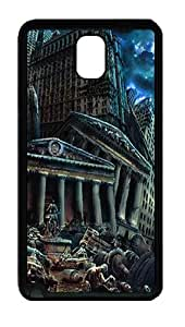 Samsung Galaxy Note 3 N9000 Case and Cover -Destroyed City art TPU Silicone Rubber Case Cover for Samsung Galaxy Note 3 N9000¨CBlack