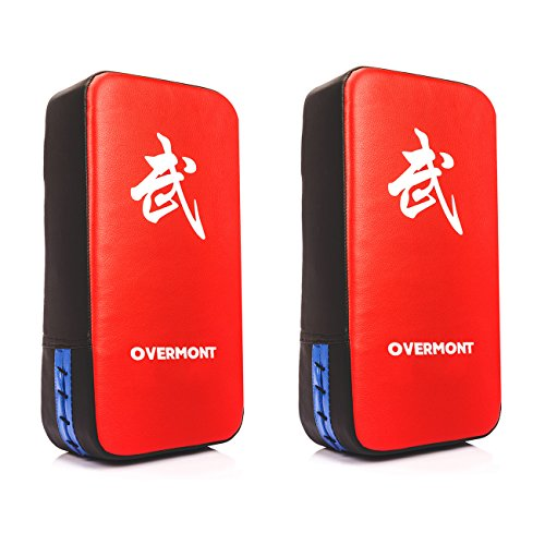 Overmont 2X PU Leather Muay Thai MMA Martial Art Boxing Karate Taekwondo Kick Target Punching Bag Pad Shield Training