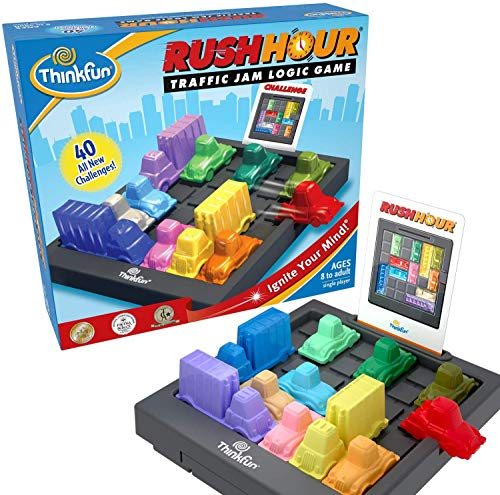 ThinkFun Rush Hour Traffic Jam Brain Game and STEM Toy for Boys and Girls Age 8 and Up - Tons of Fun With Over 20 Awards Won, International Bestseller for Over 20 Years
