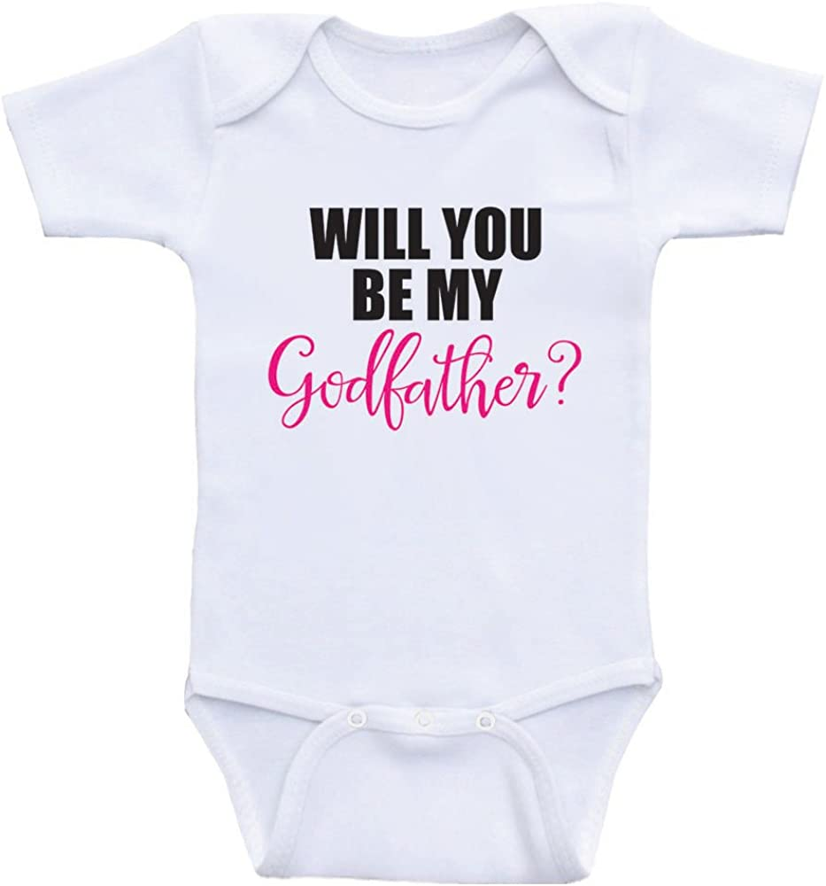 Heart Co Designs Godparent Baby Onesies Will You Be My Godfather One Piece Baby Clothes