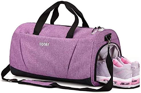 Sports Gym Bag with Wet Pocket Shoes Compartment for Women Men