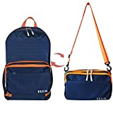 ELCM Foldable and Packaged Multi-Purpose 25L Backpack Lightweight Water Resistant for Outdoor Travel Camping, Leisure Sloping Bag, Suitable for Men and Women (Dark blue) Review