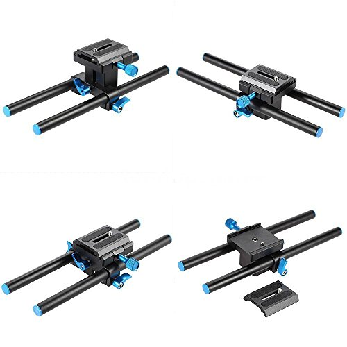 Yd Matte (Yosoo Universal DSLR Camera Baseplate 15mm Rail Rod Support System with 1/4