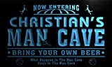 qc1564-b Christian's Man Cave Basketball Neon Sign