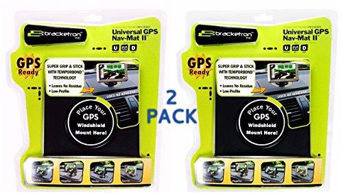 Bracketron UFM-210-BL Nav-Mat II Ultra Thin Dash Mount for GPS (2 Pack)