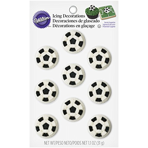 Wilton Soccer Balls Icing Decorations -