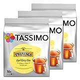 Tassimo Twinings Earl Grey Tea, Pack of 3, 3 x 16 T-Discs