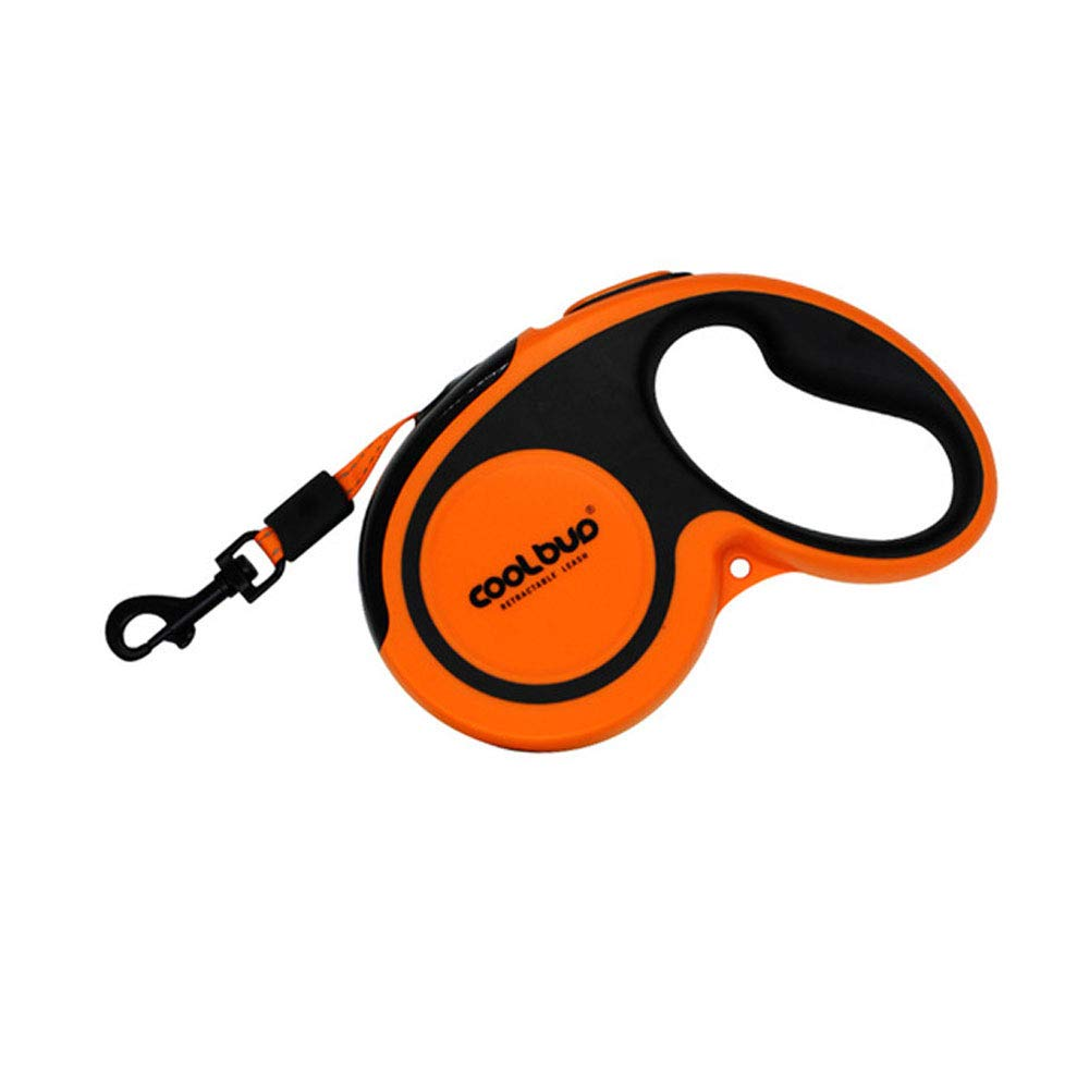 SPTY Pet Shop Retractable Dog Leash with Garbage Bag, 26 Ft Dog Walking Leash for Medium Large Dogs, Tangle Free, One Button Break and Lock,Orange,L