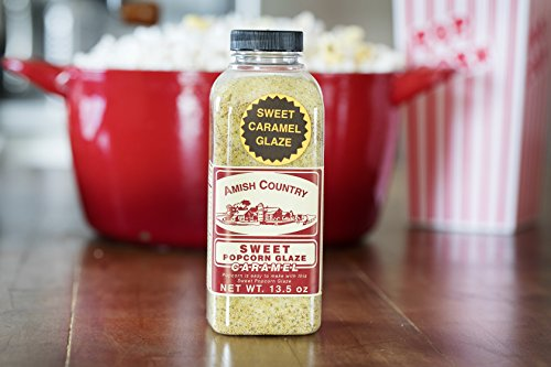 Amish Country Popcorn - Sweet Caramel Glaze - 13.5 oz - Great Tasting and Old Fashioned Sweet Treat - with Recipe Guide and 1 Year Freshness Guarantee by Amish Country Popcorn (Image #4)'