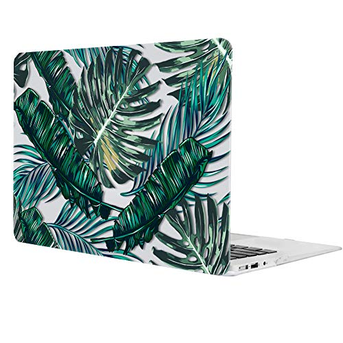 MacBook Pro 13 Case 2016, iCasso Hard Shell Plastic Protective Case Cover for Newest MacBook Pro 13 Retina Model A1706/A1708 with/Without Touch Bar and Touch ID (Palm Leaves)