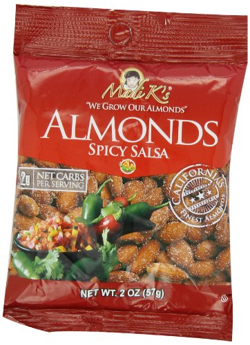 Madi K's Spicy Salsa Almonds, 2-Ounce Bags (Pack of (Dark Salsa)