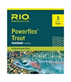 RIO Fly Fishing Leaders Powerflex Knotless 9Ft 2X Leaders 3 Pack Fishing Line, Clear