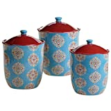 Certified International 3 Piece Spice Route Canister Set, Multicolor