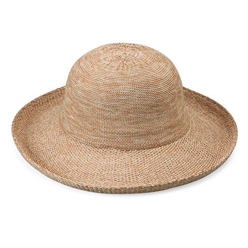 - Wallaroo Hat Company Women's Petite Victoria Sun Hat - Mixed Camel - Packable, Modern Style, Petite Size, Designed in Australia.