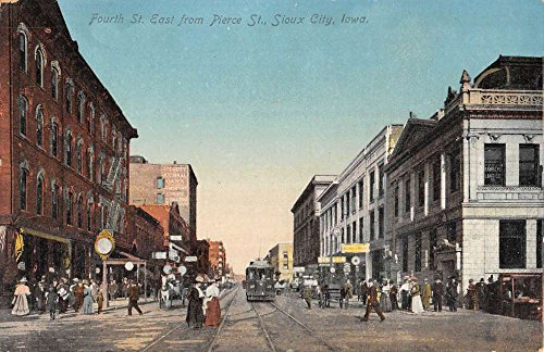 (Sioux City Iowa Fourth Street Scene Historic Bldgs Antique Postcard K86824)