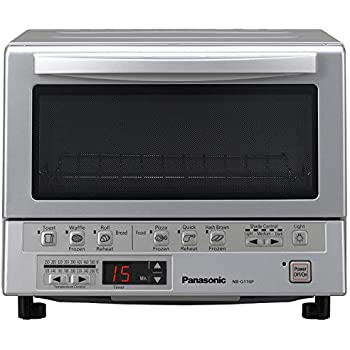 Panasonic Toaster Oven NB-G110P FlashXpress with Double Infrared Heating and Removable 9-Inch Inner Baking Tray, Silver, 1300W
