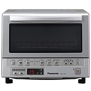 Panasonic FlashXpress Compact Toaster Oven with Double Infrared Heating, Crumb Tray and 1300 Watts of Cooking Power - 4 Slice Countertop Toaster Oven - NB-G110P (Stainless Steel) (B008C9UFDI) | Amazon Products