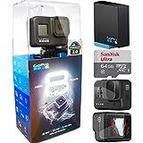 Gopro Hero 8 Black + MicroSd 64Gb + Bateria Extra + Película de Proteção