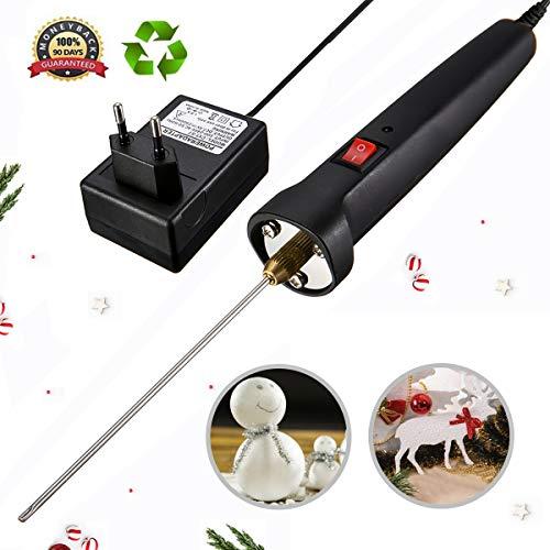 ic Cutting Machine Pen, 100-240V/15W Craft Hot Knife 10CM Styrofoam Cutting Pen with Electronic Voltage Transformer Adaptor Black ()