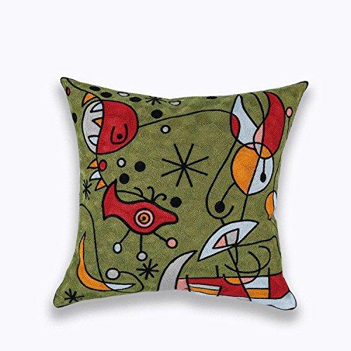 Diseño de arte moderno 3d estereoscópico bordado sofá cojín ...