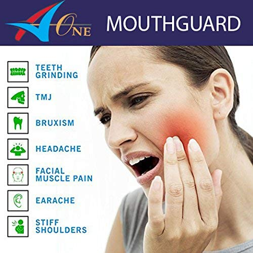 Advanced Ultra Comfort Dental Mouth Guards x 4 for Teeth Grinding, Bruxism  & TMJ Relief  UK Designed – Bundled with 12 Mouthguard Cleaning Tablets,