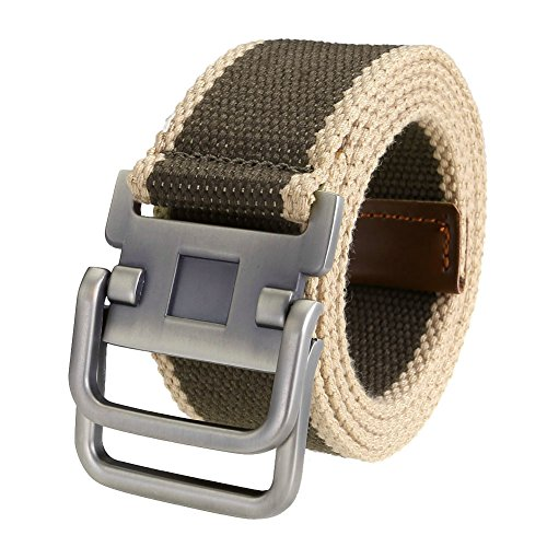 Casual Canvas Belt (Ayliss Fashion D-Ring Buckle Thicken Canvas Belt Casual Waistband,Stripe)