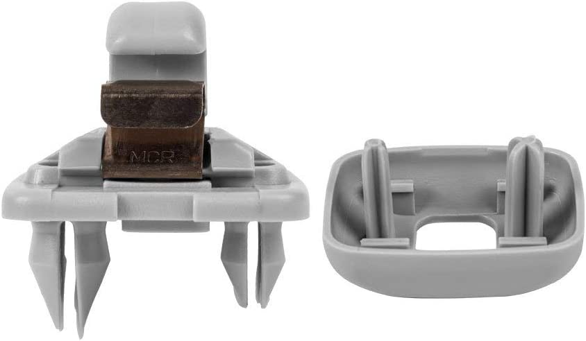 For Audi A1 A3 A4 A5 A6 A7 TT Q3 Q5 Inner Sun Visor Hook Clip Bracket gray