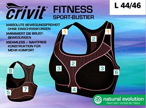 Crivit - Camiseta sin mangas - para mujer Fitness Schwarz