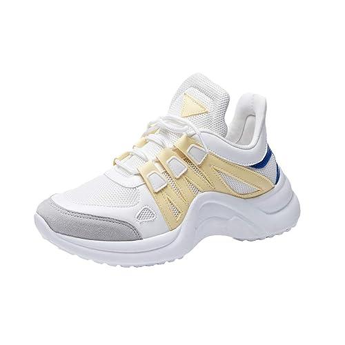 Mujer Zapatillas de Deportes, Moda Respirable Zapatos con Forrado Calentar Casuales Corriendo Trotar Gimnasio Deportes Sneakers Zapatillas ...