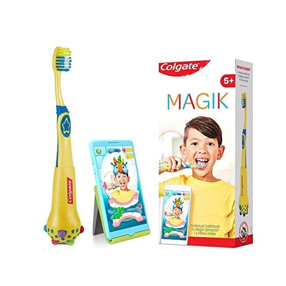 Colgate MAGIK Augmented Reality based Toothbrush for Kids 5+,(1 Kit contains soft bristles manual toothbrush, MAGIK