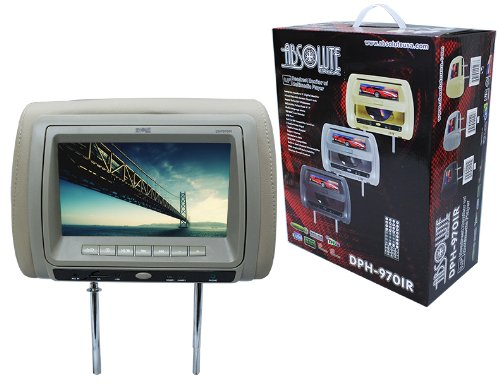 Absolute DPH-970IRC 9.5-Inch Headrest TFT/LCD Monitor DVD/USB/SD Card Multimedia Player with IR Transmitter (Cream/Tan)