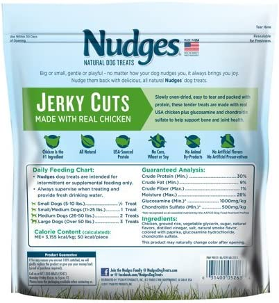 Nudges Health and Wellness Chicken Jerky Dog Treats, 16 oz.