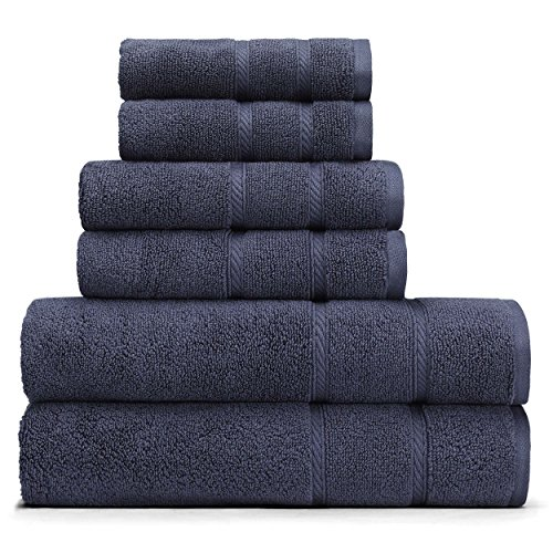 Nautica Belle Haven 6-Piece Towel Set, 6Piece, Navy