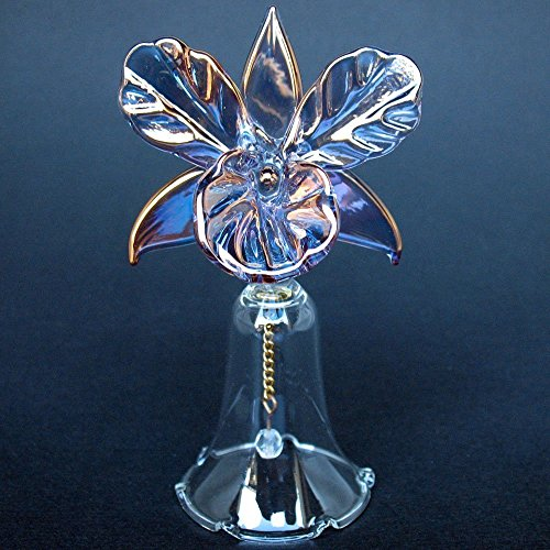 Hand Blown Glass Orchid Bell